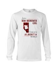 NEW BRUNSWICK GIRL LIVING IN ALBERTA WORLD Long Sleeve Tee thumbnail