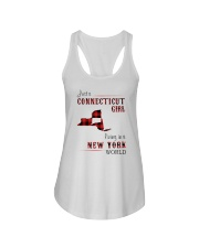CONNECTICUT GIRL LIVING IN NEW YORK WORLD Ladies Flowy Tank thumbnail