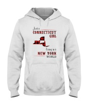CONNECTICUT GIRL LIVING IN NEW YORK WORLD Hooded Sweatshirt thumbnail