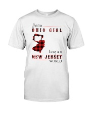 OHIO GIRL LIVING IN JERSEY WORLD Classic T-Shirt front