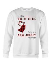 OHIO GIRL LIVING IN JERSEY WORLD Crewneck Sweatshirt thumbnail