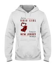 OHIO GIRL LIVING IN JERSEY WORLD Hooded Sweatshirt thumbnail