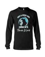 JERSEY GIRL LIVING IN FLORIDA WORLD Long Sleeve Tee thumbnail