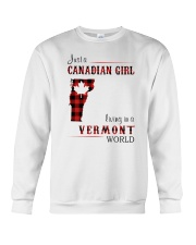 CANADIAN GIRL LIVING IN VERMONT WORLD Crewneck Sweatshirt thumbnail