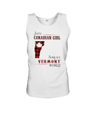 CANADIAN GIRL LIVING IN VERMONT WORLD Unisex Tank thumbnail