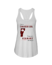 CANADIAN GIRL LIVING IN VERMONT WORLD Ladies Flowy Tank thumbnail