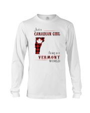 CANADIAN GIRL LIVING IN VERMONT WORLD Long Sleeve Tee thumbnail