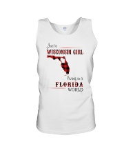 WISCONSIN GIRL LIVING IN FLORIDA WORLD Unisex Tank thumbnail