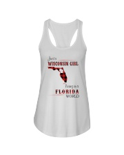 WISCONSIN GIRL LIVING IN FLORIDA WORLD Ladies Flowy Tank thumbnail