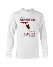 WISCONSIN GIRL LIVING IN FLORIDA WORLD Long Sleeve Tee thumbnail