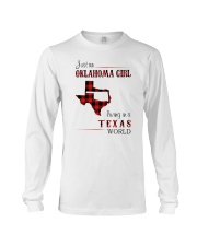OKLAHOMA GIRL LIVING IN TEXAS WORLD Long Sleeve Tee thumbnail
