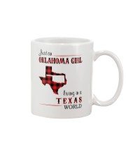 OKLAHOMA GIRL LIVING IN TEXAS WORLD Mug thumbnail