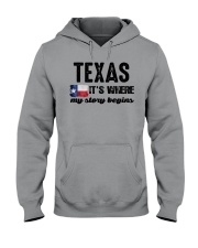 TEXAS IT'S WHERE MY STORY BEGINS Hooded Sweatshirt thumbnail