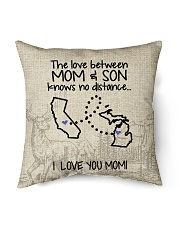 "MICHIGAN CALIFORNIA THE LOVE MOM AND SON Indoor Pillow - 16"" x 16"" back"