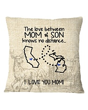 MICHIGAN CALIFORNIA THE LOVE MOM AND SON Square Pillowcase thumbnail