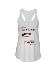KENTUCKY GIRL LIVING IN TENNESSEE WORLD Ladies Flowy Tank thumbnail