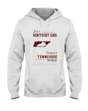 KENTUCKY GIRL LIVING IN TENNESSEE WORLD Hooded Sweatshirt thumbnail
