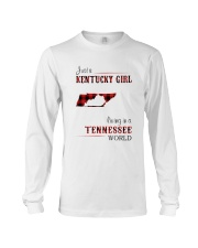 KENTUCKY GIRL LIVING IN TENNESSEE WORLD Long Sleeve Tee thumbnail