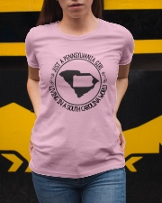 PENNSYLVANIA GIRL LIVING IN SOUTH CAROLINA WORLD Ladies T-Shirt apparel-ladies-t-shirt-lifestyle-04
