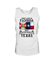 LIVE IN FLORIDA BUT MY STORY BEGAN IN TEXAS Unisex Tank thumbnail