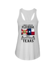 LIVE IN FLORIDA BUT MY STORY BEGAN IN TEXAS Ladies Flowy Tank thumbnail