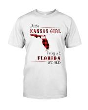 KANSAS GIRL LIVING IN FLORIDA WORLD Classic T-Shirt front