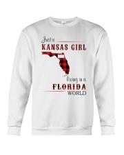KANSAS GIRL LIVING IN FLORIDA WORLD Crewneck Sweatshirt thumbnail