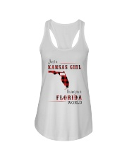 KANSAS GIRL LIVING IN FLORIDA WORLD Ladies Flowy Tank thumbnail