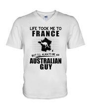 AUSTRALIAN GUY LIFE TOOK TO FRANCE V-Neck T-Shirt thumbnail