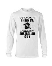 AUSTRALIAN GUY LIFE TOOK TO FRANCE Long Sleeve Tee thumbnail