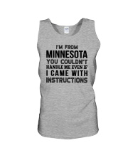 I'M FROM MINNESOTA YOU CAN'T HANDLE ME Unisex Tank thumbnail