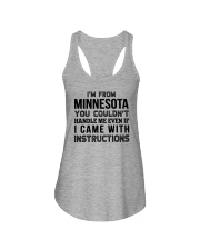 I'M FROM MINNESOTA YOU CAN'T HANDLE ME Ladies Flowy Tank thumbnail