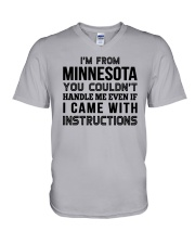 I'M FROM MINNESOTA YOU CAN'T HANDLE ME V-Neck T-Shirt thumbnail