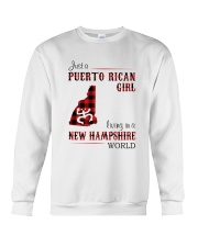 PUERTO RICAN GIRL LIVING IN NEW HAMPSHIRE WORLD Crewneck Sweatshirt thumbnail
