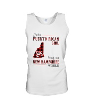 PUERTO RICAN GIRL LIVING IN NEW HAMPSHIRE WORLD Unisex Tank tile