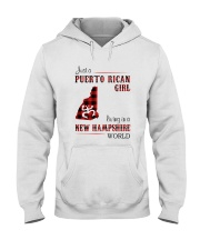 PUERTO RICAN GIRL LIVING IN NEW HAMPSHIRE WORLD Hooded Sweatshirt tile