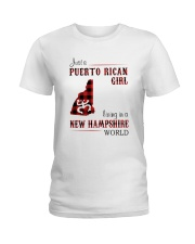 PUERTO RICAN GIRL LIVING IN NEW HAMPSHIRE WORLD Ladies T-Shirt tile