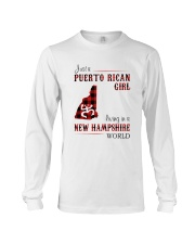 PUERTO RICAN GIRL LIVING IN NEW HAMPSHIRE WORLD Long Sleeve Tee tile