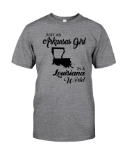JUST AN ARKANSAS GIRL IN A LOUISIANA WORLD Classic T-Shirt thumbnail