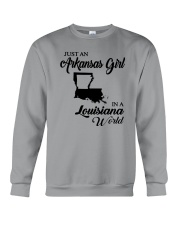 JUST AN ARKANSAS GIRL IN A LOUISIANA WORLD Crewneck Sweatshirt thumbnail