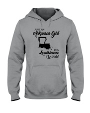 JUST AN ARKANSAS GIRL IN A LOUISIANA WORLD Hooded Sweatshirt thumbnail