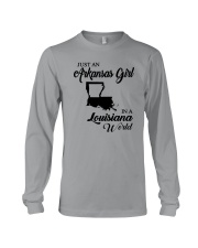 JUST AN ARKANSAS GIRL IN A LOUISIANA WORLD Long Sleeve Tee thumbnail