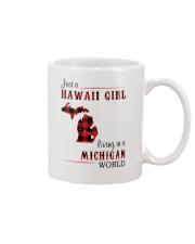 HAWAII GIRL LIVING IN MICHIGAN WORLD Mug thumbnail