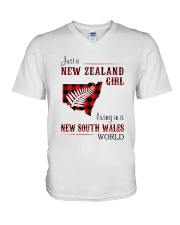 NEW ZEALAND GIRL LIVING IN NSW WORLD V-Neck T-Shirt thumbnail