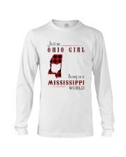 OHIO GIRL LIVING IN MISSISSIPPI WORLD Long Sleeve Tee thumbnail