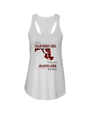 CALIFORNIA GIRL LIVING IN MARYLAND WORLD Ladies Flowy Tank thumbnail
