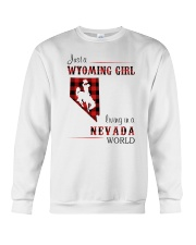 WYOMING GIRL LIVING IN NEVADA WORLD Crewneck Sweatshirt thumbnail