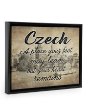 CZECH A PLACE YOUR HEART REMAINS 14x11 Black Floating Framed Canvas Prints thumbnail