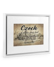 CZECH A PLACE YOUR HEART REMAINS 14x11 White Floating Framed Canvas Prints thumbnail