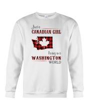 CANADIAN GIRL LIVING IN WASHINGTON WORLD Crewneck Sweatshirt thumbnail
